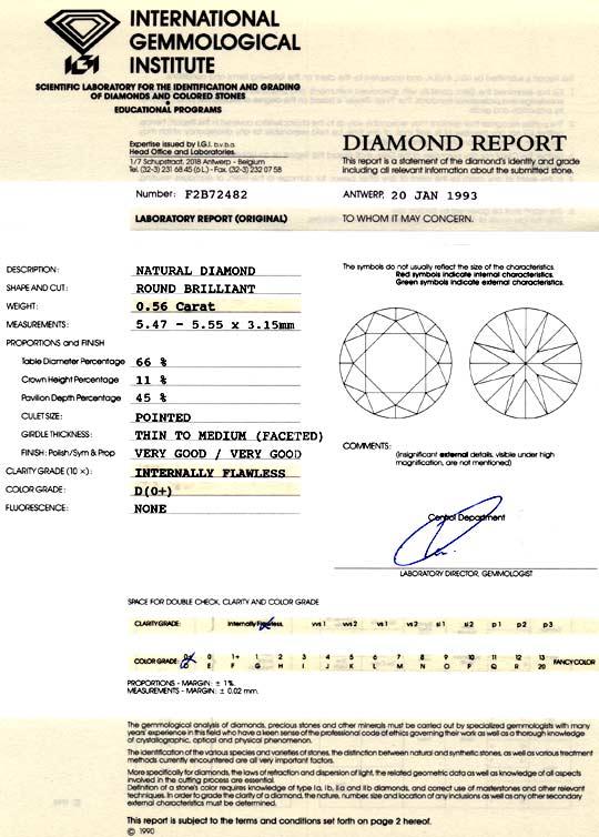 Foto 9, Der Beste Diamant 0,56 IGI Lupenrein River VG/VG Juwel!, D5949