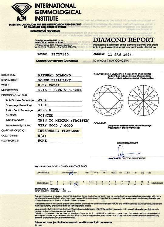Foto 9, Diamant 0,52 Carat Brilliant IGI Lupenrein Weiss Juwel!, D5957
