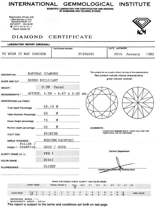 Foto 9, Diamant 0,38Carat River D Brillant IGI Expertise Juwel!, D5959