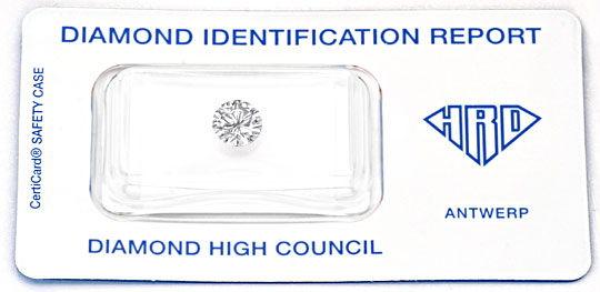 Foto 1, Brilliant 0,94 Carat HRD Lupenrein feines Weiss Diamond, D5960
