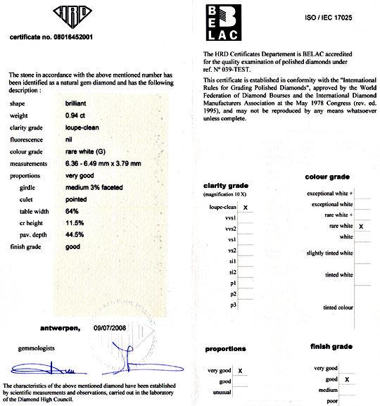 Foto 9, Brilliant 0,94 Carat HRD Lupenrein feines Weiss Diamond, D5960