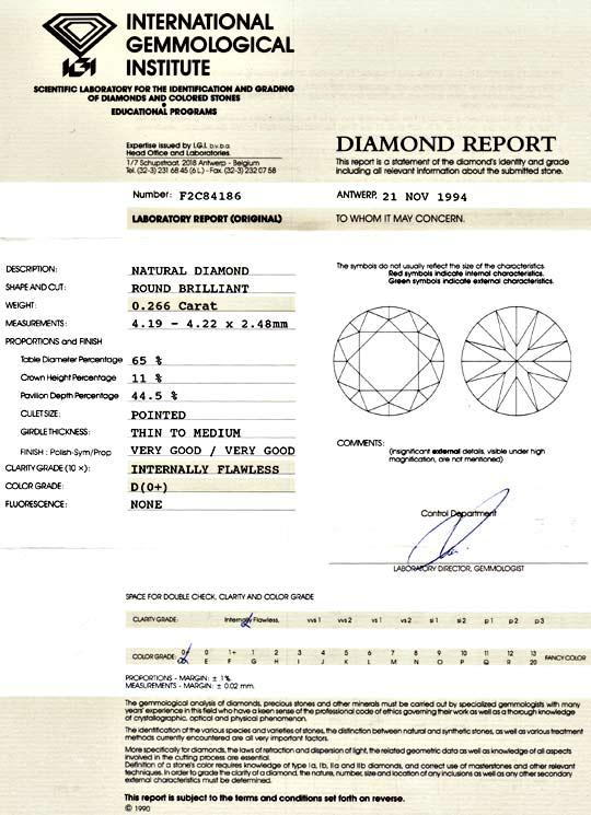 Foto 9, Allerbester Diamant 0,266 IGI River D, Lupenrein Juwel!, D5962