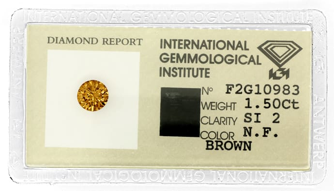 Foto 1, 1,50 Brillant Natural Fancy Brown IGI Expertise Diamond, D5975