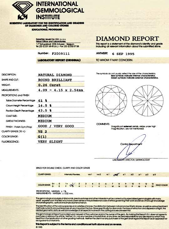 Foto 9, Diamant 0,26 Carat Brillant IGI feines Weiss VS2 Juwel!, D5979