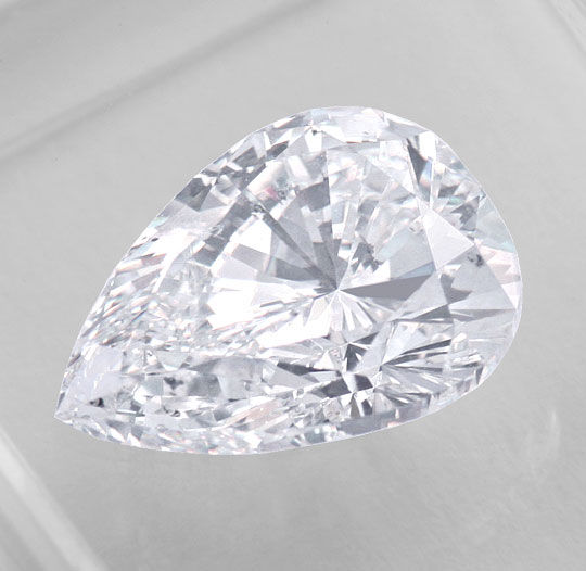 Foto 2, River D 2,05ct Tropfen-Diamant Pear IGI Traum-Brillanz!, D6002