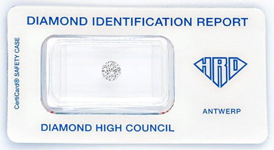 Foto 1, Diamant 0,58ct Brillant HRD Top Wesselton VS 3xSehr Gut, D6018