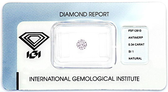 Foto 1, Natural Faint Pink Diamant 0,348ct Rosa Brillant SI IGI, D6020