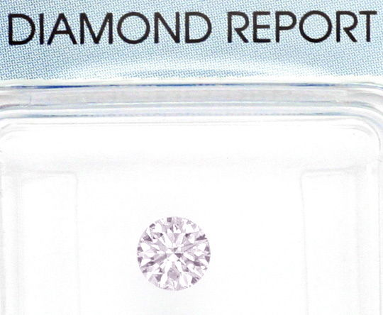 Foto 2, Natural Faint Pink Diamant 0,348ct Rosa Brillant SI IGI, D6020