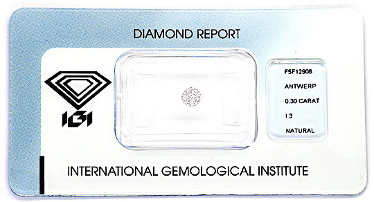 Foto 1, Natural Very Faint Pink Diamant 0,3ct Rosa Brillant IGI, D6021