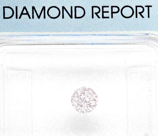 Foto 2, Natural Very Faint Pink Diamant 0,3ct Rosa Brillant IGI, D6021