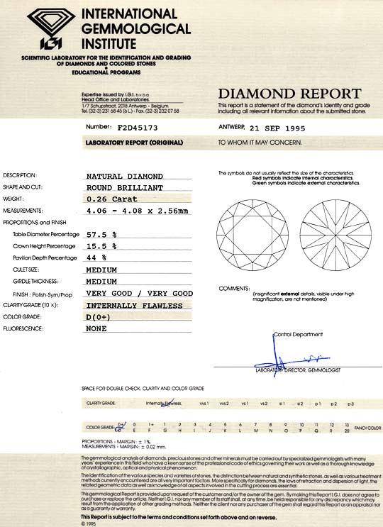 Foto 9, Der Beste Brillant 0,26 Lupenreiner Diamant IGI River D, D6025