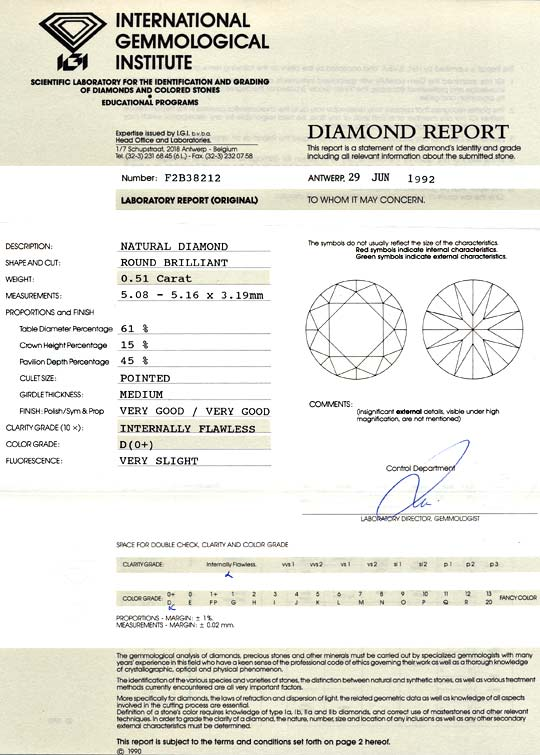 Foto 9, Der Beste Brillant 0,51 Lupenreiner Diamant IGI River D, D6026