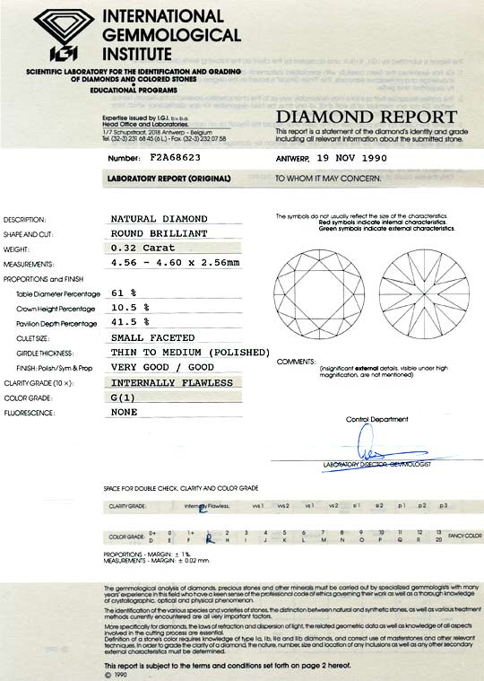 Foto 9, Brilliant 0,32ct Lupenreiner Diamant, IGI Top Wesselton, D6027