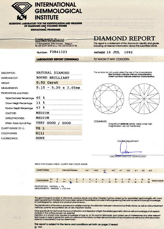 Foto 9, Diamant 0,52 ct Brillant IGI Top Wesselton feines Weiss, D6042