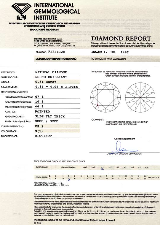 Foto 9, Diamant 0,51ct Brillant IGI, Top Wesselton feines Weiss, D6043