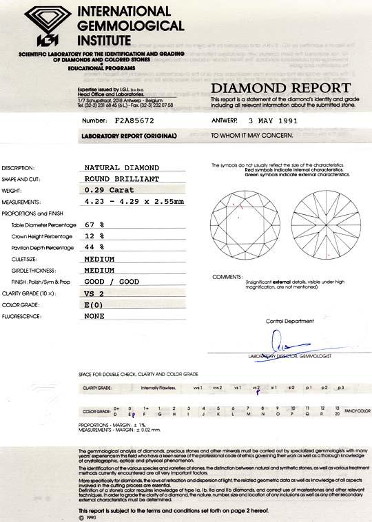 Foto 9, Diamant 0,29 ct Brilliant IGI Hochfeines Weiss River VS, D6045