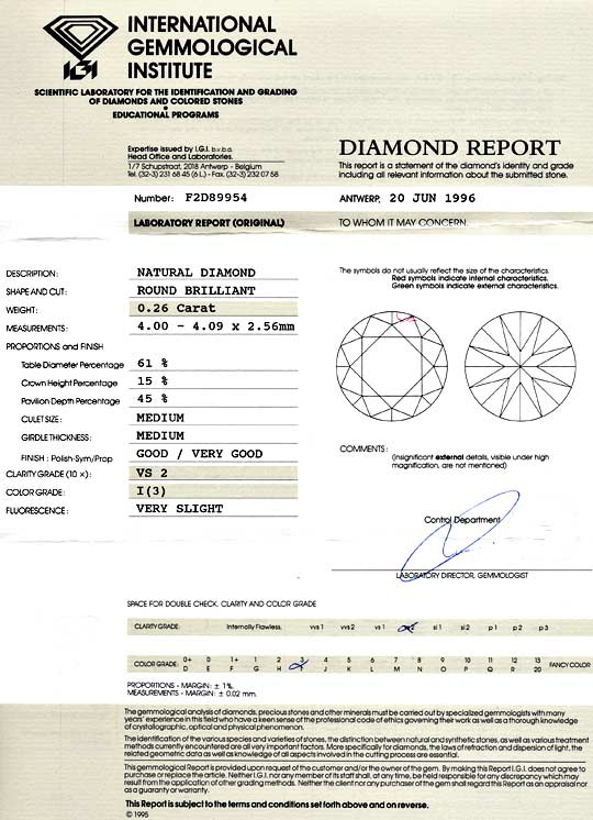 Foto 9, Diamant 0,26Carat Brillant IGI-Gutachten Top Crystal VS, D6049