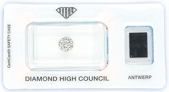 Foto 1, Diamant 1,09 Brilliant HRD Lupenrein Optisch Ganz Weiss, D6058