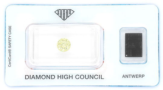 Foto 1, Natural Yellow Diamant 1,0ct Brilliant Zitrone VVS1 HRD, D6059