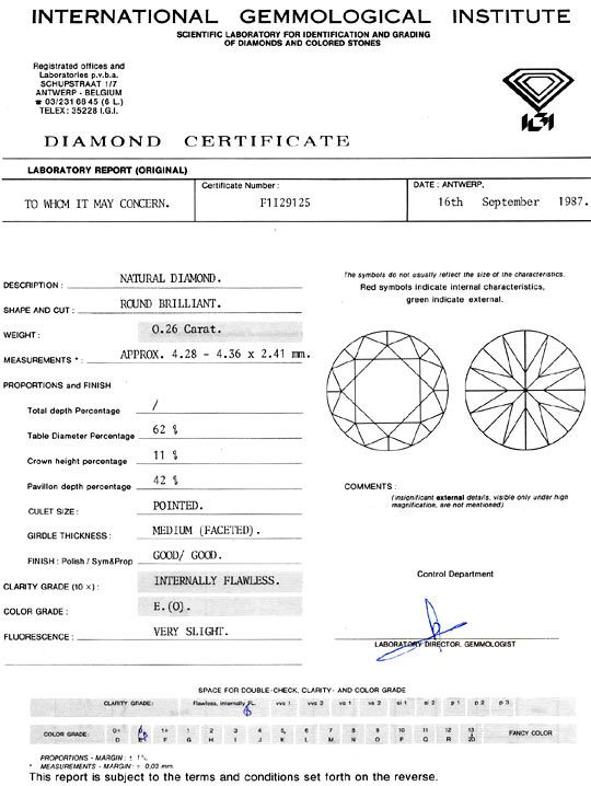 Foto 9 - Diamant 0,26ct Brillant IGI Brilliant Lupenrein River E, D6084