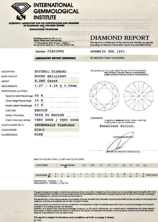 Foto 9, Der Beste Brillant Diamant 0,28ct IGI Lupenrein River D, D6095