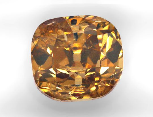 Foto 2, 2,99ct Rot Goldbraun Diamant Deep Brown Cushion Cut IGI, D6106