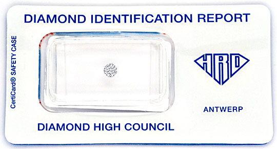 Foto 1, Diamant 0,16ct Brilliant HRD Expertise Wesselton H VVS1, D6115