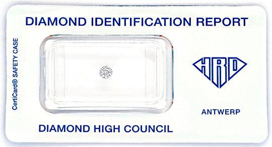 Foto 1, Diamant 0,16 Brillant in Wesselton H VVS2 HRD Expertise, D6116