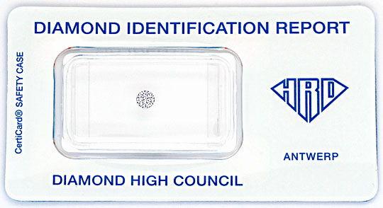 Foto 1, Diamant 0,15ct Brilliant HRD Expertise Wesselton H VVS1, D6118