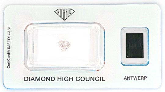 Foto 1, Pink Rose Violetter Herz Schliff Diamant 0,51 Carat HRD, D6124