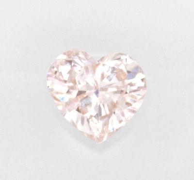 Foto 2, Pink Rose Violetter Herz Schliff Diamant 0,51 Carat HRD, D6124