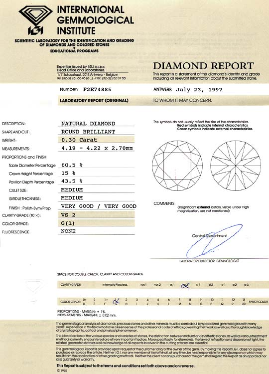Foto 9 - Diamant 0,30 ct Brillant Top Wesselton feines Weiss IGI, D6129