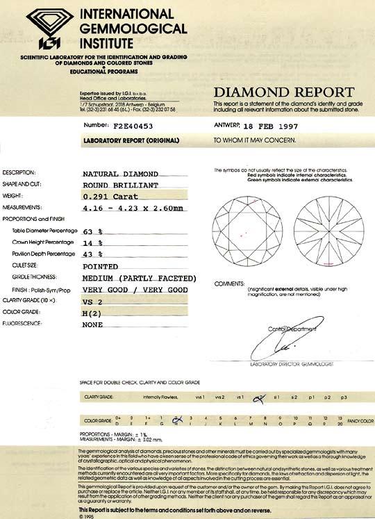 Foto 9, Diamant 0,291Carat Brillant Wesselton VS2 IGI Expertise, D6130