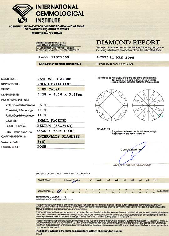 Foto 9 - Diamant 0,89 ct Brilliant Lupenrein River IGI Expertise, D6137