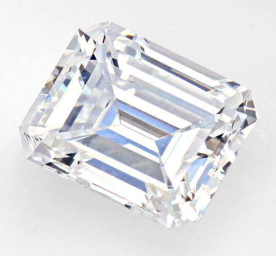 Foto 2, Diamant im Emeraldcut 1,193 Carat Lupenrein River E HRD, D6157