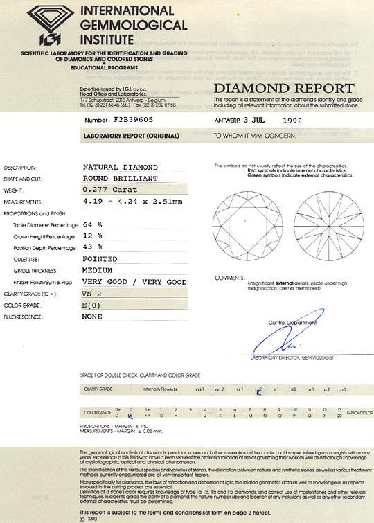 Foto 9, Diamant 0,277ct Brillant IGI River Hochfeines Weiss VS2, D6169