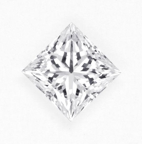 Foto 1, Diamant 0,45 Carat Lupenrein River Princess Schliff DPL, D6173