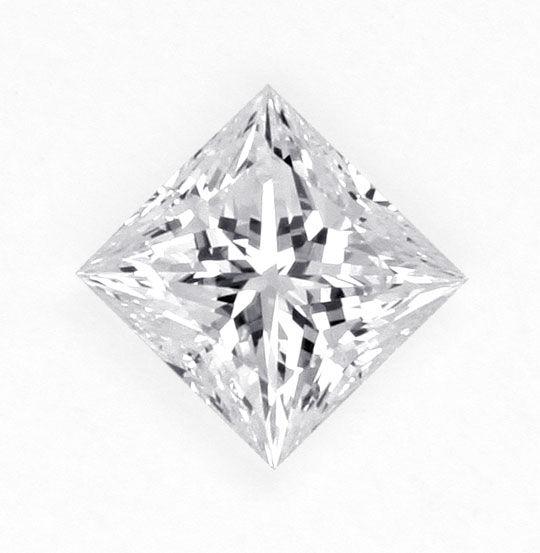 Foto 1, Diamant 0,44 DPL River Hochfeines Weiss VVS Princesscut, D6174