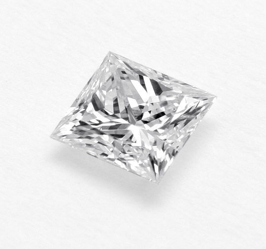 Foto 2, Diamant 0,44 DPL River Hochfeines Weiss VVS Princesscut, D6174