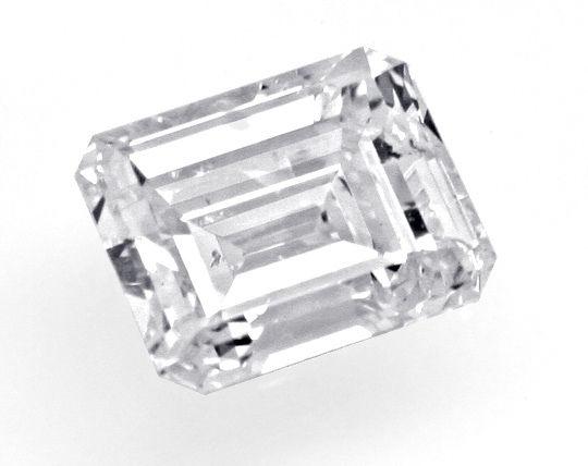 Foto 2, Diamant Emerald Cut 0,91 River Hochfeines Weiss SI2 HRD, D6182