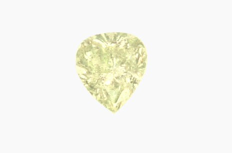 Foto 2, Fancy Green Yellow Diamant 0,56 ct Tropfen Schliff, IGI, D6183