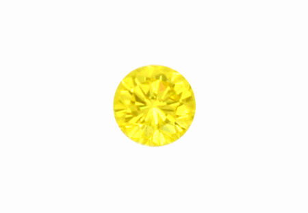 Foto 2, Natural Fancy Intense Yellow Diamant 0,64 Brilliant HRD, D6185