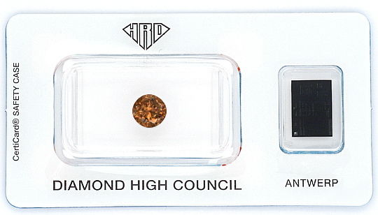 Foto 1 - Natural Fancy Intense Orangy Brown 1,17 ct Brillant HRD, D6189