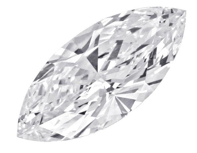 Foto 2, Bester Diamant 1,05Carat River D, Lupenrein Navette IGI, D6198