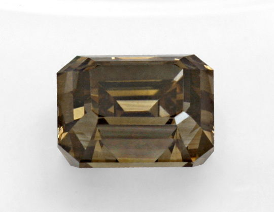 Foto 2, 1,21 Diamant Emerald-Cut Fancy Intense Olive Brown, HRD, D6202