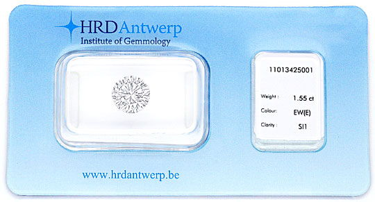 Foto 1, Diamant 1,559ct Brillant HRD River Hochfeines Weiss SI1, D6212