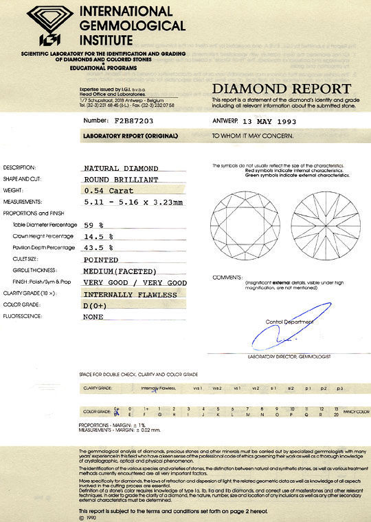 Foto 9, Der Beste Diamant 0,54ct Brillant IGI Lupenrein River D, D6251