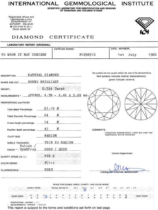 Foto 9, Diamant 0,324 Carat Brillant IGI feines Weiss Plus VVS2, D6261