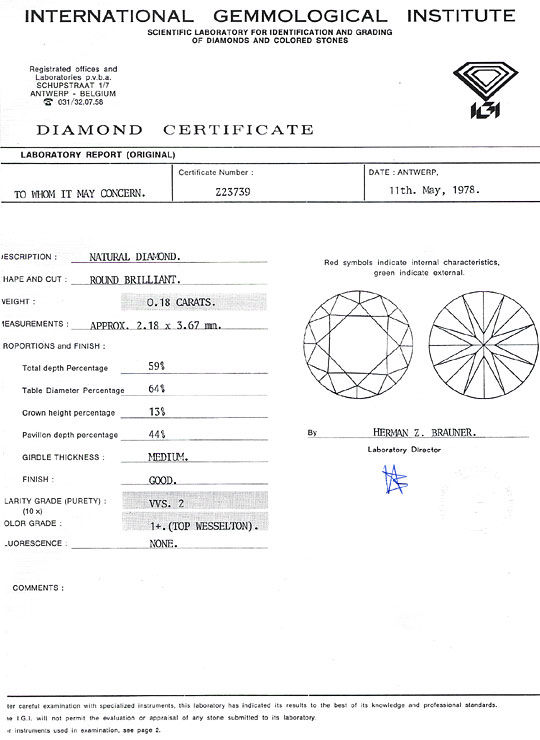 Foto 9, 0,18ct Brillant IGI Top Wesselton feines Weiss Plus VVS, D6265