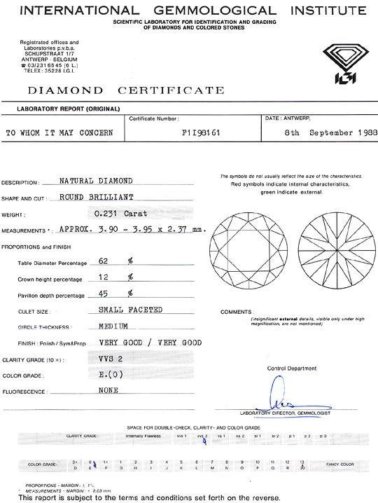 Foto 9, Diamant 0,231ct Brillant IGI River Hochfeines Weiss VVS, D6270